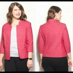 Roz & Ali Womens Size 1X Red Blazer Jacket